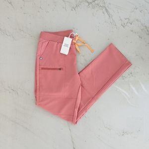 FIGS Coral Yona Scrub Pants